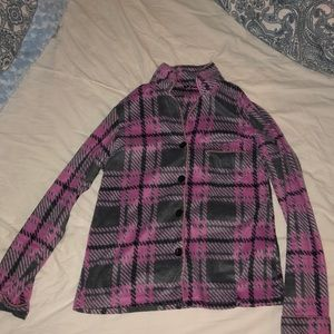 Plaid pajama shirt